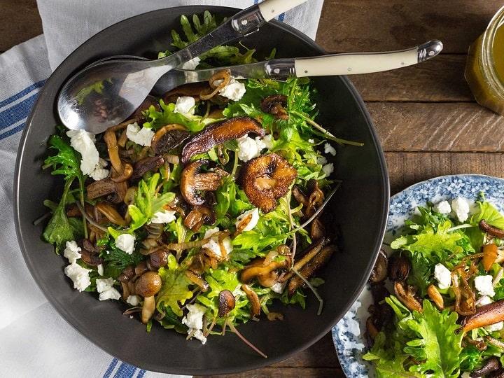 سالاد قارچ سبزیجات