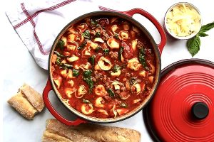 سوپ ماکارونی صدفی