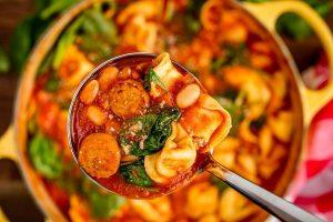 سوپ ماکارونی گوش ماهی