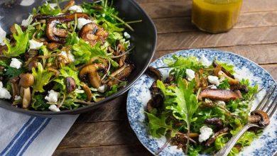 طرز تهیه سالاد قارچ و سبزیجات
