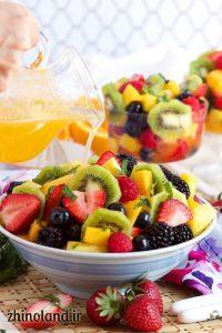 سالاد میوه خوشمزه