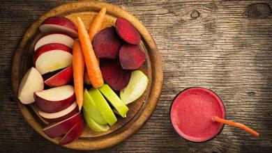 آبمیوه هویج و سیب و چغندر