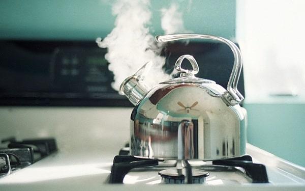 جوشاندن آب برای چای