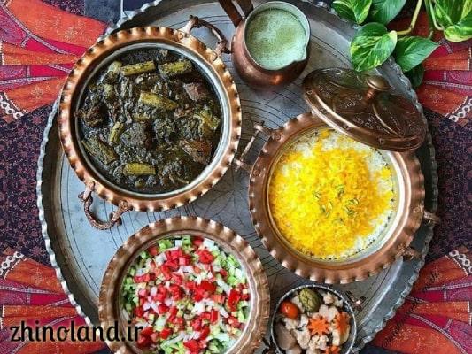 خورشت کرفس با سالاد شیرازی