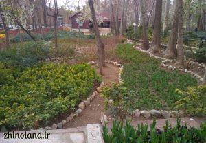 باغ ایرانی ده ونک در بهار