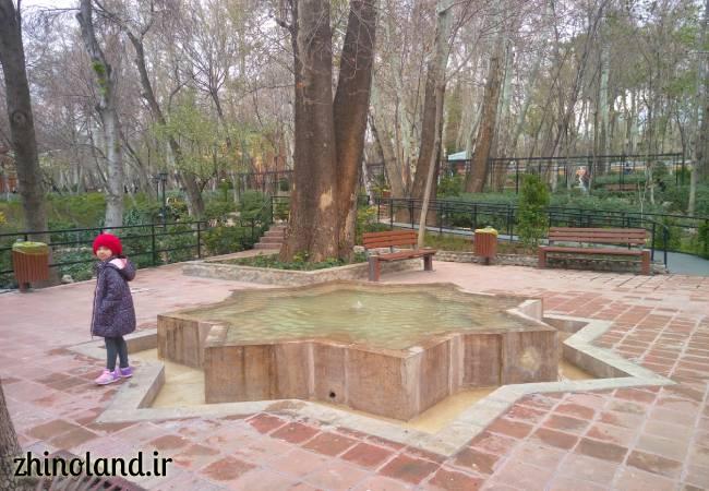 حوض باغ ایرانی ده ونک