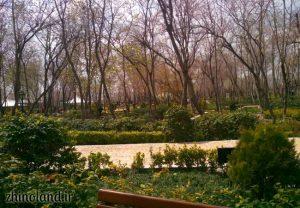 نمای داخلی پارک باغ ایرانی
