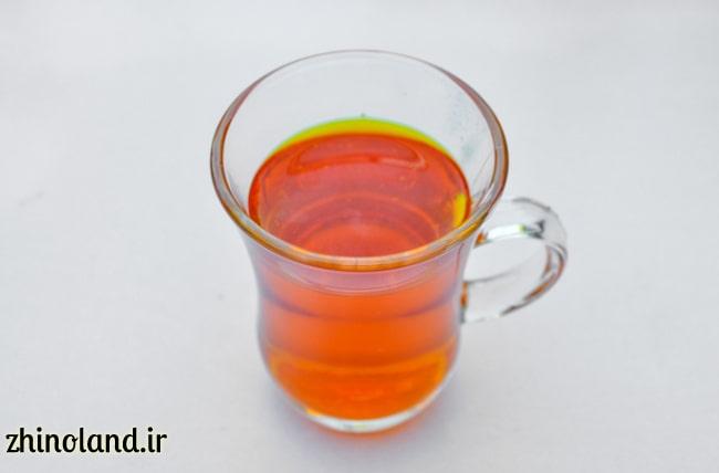 زعفران دم شده برای لوبیا پلو با مرغ
