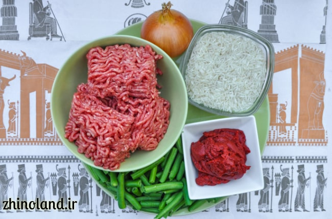 مواد لازم برای لوبیا پلو