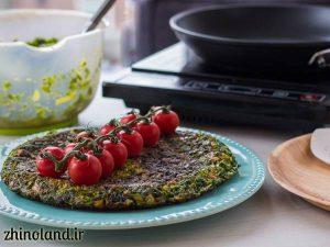 کوکو سبزی خوشمزه با زرشک و گردو