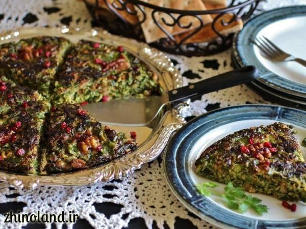 کوکو سبزی دو نفره