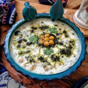 طرز تهیه آش دوغ با عکس