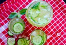 لیموناد خیار با نعناع تازه